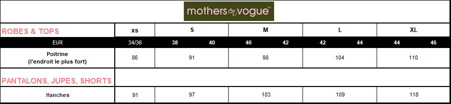 Mothers en vogue taille